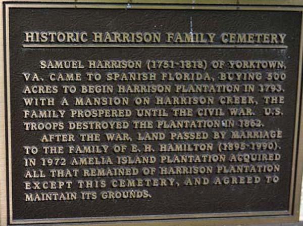 Harrison Cemetery Marker